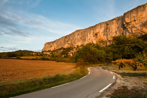 18-55mm photo falaise route golden hour objectif
