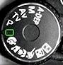 molette reglage modes appareil photo
