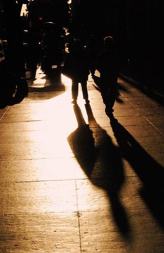 Photo golden hours ombres heure dorée