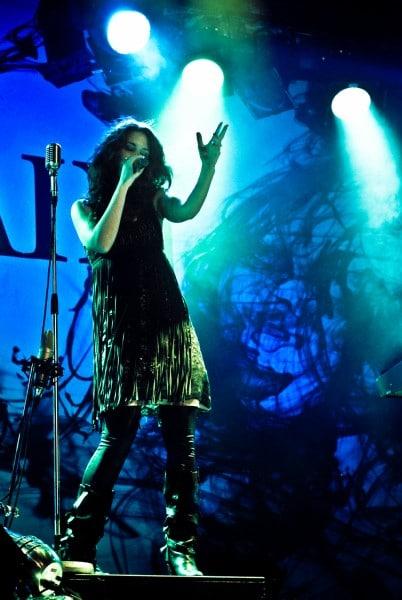 Photo de concert chanteur Delain @Elysée Montmartre