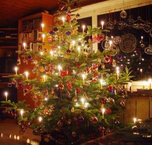 Sapin de Noël lumière photo balance des blancs couleurs chaudes
