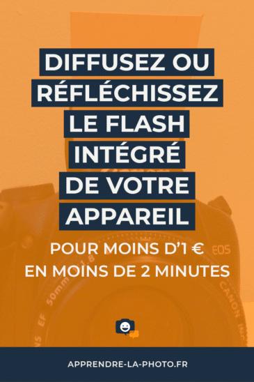 Diffusez ou réfléchissez le flash intégré de votre appareil pour moins d'1€ en moins de 2 minutes!