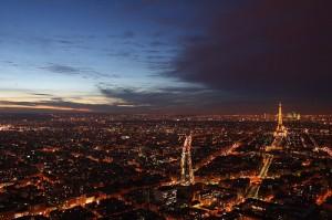 photo de nuit paris trépied