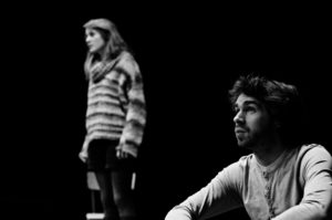Photo théâtre noir et blanc