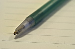 La page blanche photo image stylo feuille