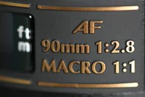 Tamron 90mm f2.8 Di Macro objectifs macro