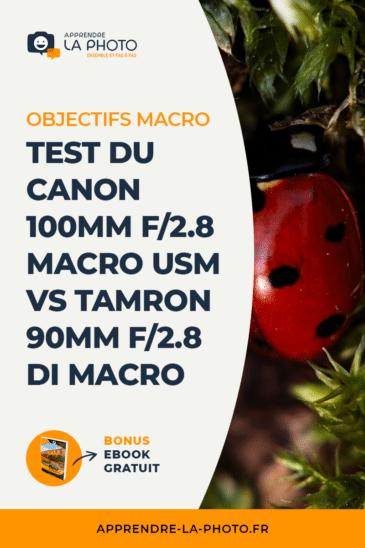 Objectifs macro: test du Canon 100mm f/2.8 Macro USM vs Tamron 90mm f/2.8 Di Macro