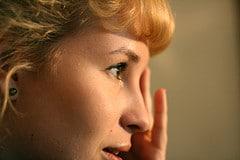 portrait photo femme profil
