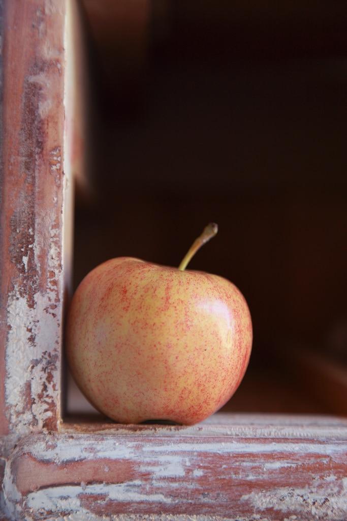 pomme tachetée photo originale