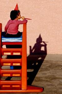 Chapeau pointu Ombres et Lumière photo enfant jeu