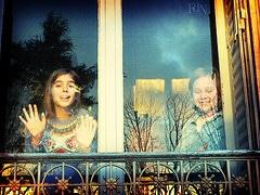 photo Reflets fenêtre enfants