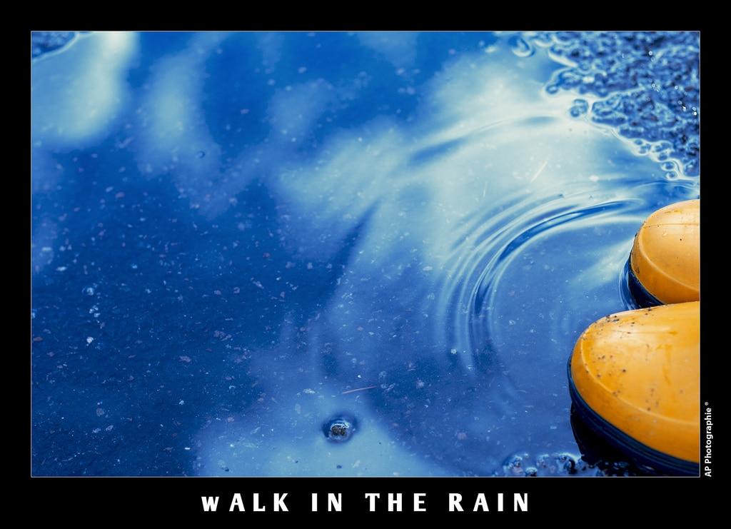 eau reflet flaque pluie pieds