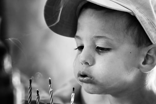 Bougies magiques enfant
