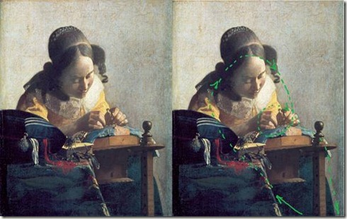 dentelière de Vermeer regard cercle spirale