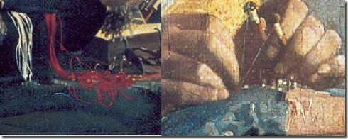 dentelière de Vermeer main regard spirale zoom