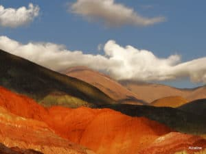 photo paysage orange couleur terre montagne Argentine