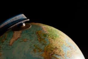 Photo globe terrestre terre