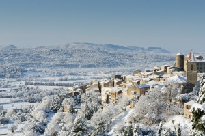 Photo paysage village neige