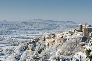 Photo paysage village neige