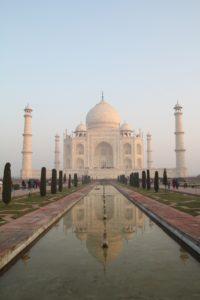 Taj Mahal perspective grandeur