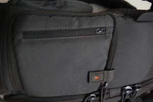 test sac photo Vanguard Skyborne 45 poche latérale