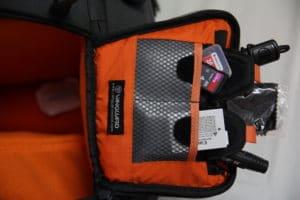test sac photo Vanguard Skyborne 45 poches intérieur
