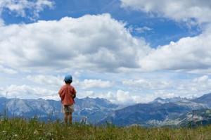 photo enfant nature montage paysage nuages