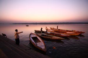 photo Gange bateaux lever du soleil voyage