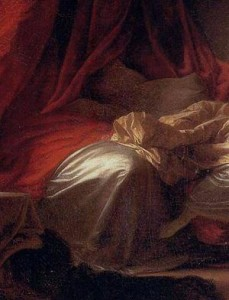 Détail du lit fragonard