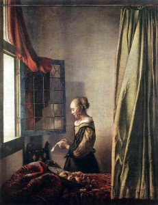 Vermeer «Jeune femme lisant une lettre» 1657