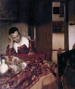 Vermeer « La jeune femme endormie » 1657