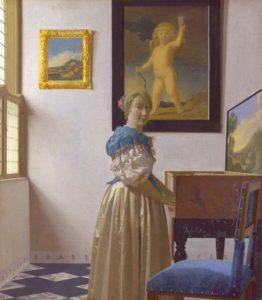 Vermeer « Dame debout à l'épinette » 1673 1675