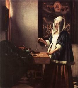 Vermeer « La peseuse de perle » 1662