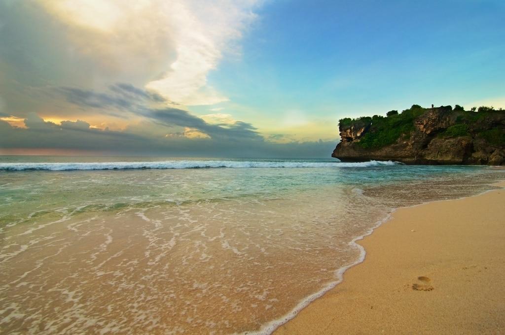 Balangan plage photo vitesse d'obturation