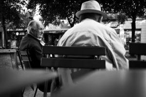 photo de rue Panasonic GX1 terrasse table