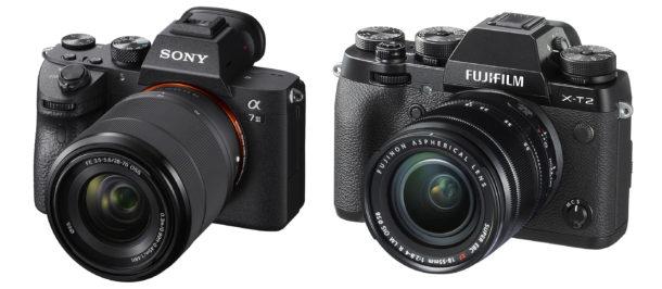 appareils photo hybrides Sony et Fujifilm