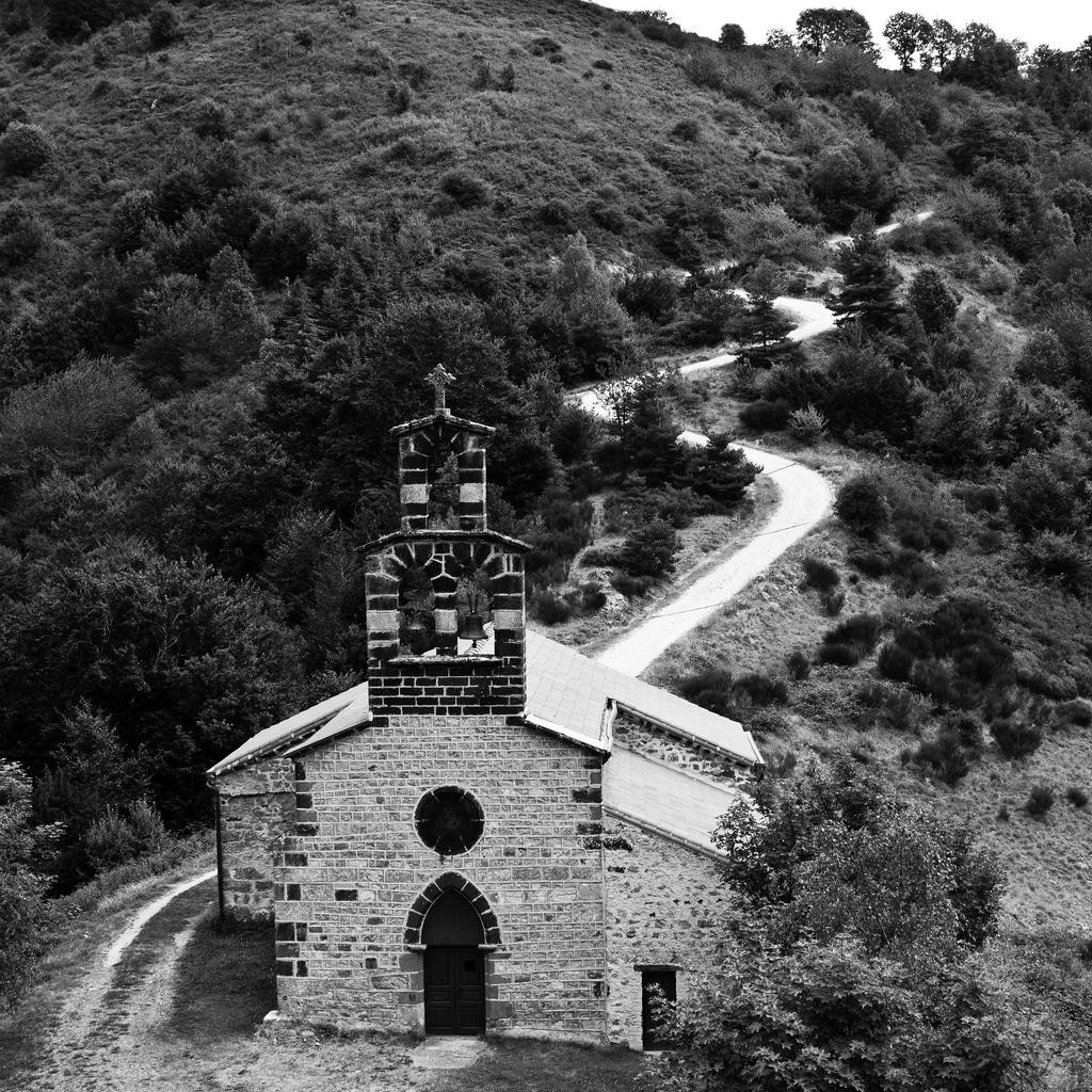 photo chapelle noir et blanc