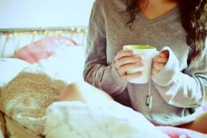 Photo thé matin déjeuné femme
