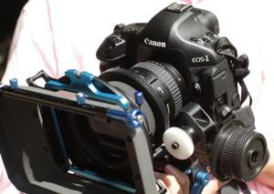 canon 1D video reflex follow focus matte box