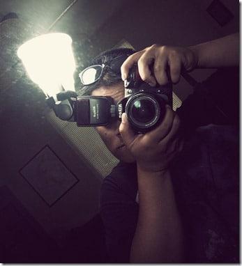 photo flash portrait moroir