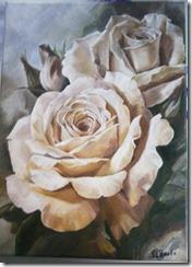 rose peinture photo fleur ombre lumière pétales