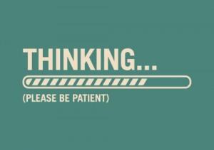 thinking attente réflection réfléchir