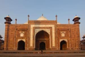 Mosquée du Taj Mahal personne
