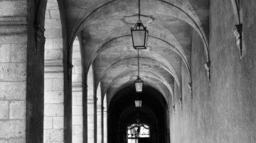 photo arches noir et blanc composition
