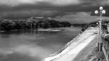 photo paysage noir et blanc composition