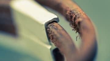 Macro abstraite photo cuir bracelet profondeur de champ