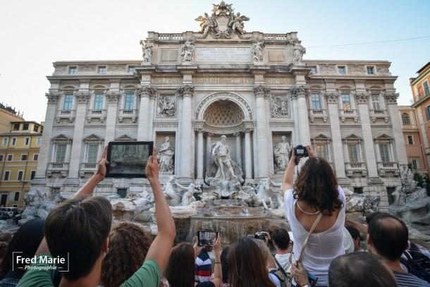 Fontaine de Trevi fred marie italie