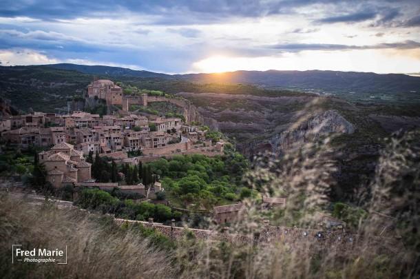 lever de soleil ville montage paysage