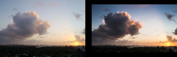 post traitement coucher de soleil photo retoucher