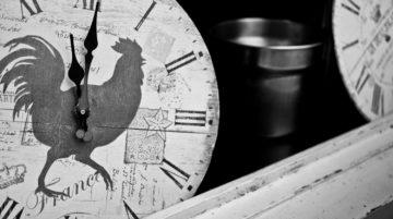 Photo horloge coq heure temps composition focale normale